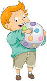 Kid Holding Ball — Stock Photo