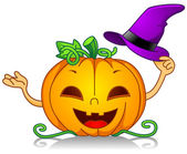 Pumpkin Witch Hat — Stock Photo