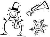 Christmas Stencil — Stock Photo