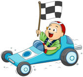 Go Kart Kid — Stock Photo