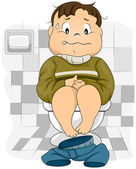 Constipated Kid — Stock Photo