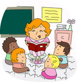 Preschool Teacher — Stock Photo