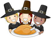 Thanksgiving Pilgrim — Stockfoto