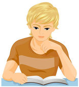 Man Reading — Stock Photo