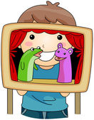 Puppet Show — Stock Photo