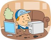 Computer Technician — Stock Photo