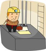 Mecânico de elevador — Fotografia Stock