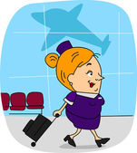 Flight Attendant — Stock Photo