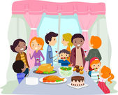 Illustration of a Housewarming Party — Stock Photo