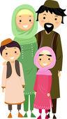 Muslim Family — Stockfoto