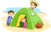 Family Tent — Stock Photo