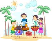 Aile gezisi — Stok fotoğraf