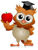 Owl Apple — Foto de Stock