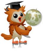 Owl Globe — Stock Photo