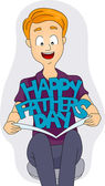 Father's Day Card — Foto de Stock