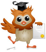 Owl Diploma — Stock Photo