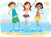 Beach Friends — Stock Photo