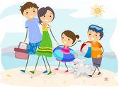 Familienausflug — Stockfoto