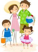 Rodinný výlet — Stock fotografie