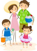 Familjeutflykt — Stockfoto