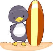 Surfista pinguino — Foto Stock