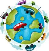 Carros da globo — Foto Stock
