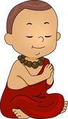 Mnich se modlí — Stock fotografie