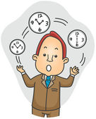 Businessman Juggling Time — Stock Photo