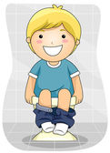 Kid Bowel Movement — Stock Photo