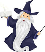 Fat Wizard — Stock Photo