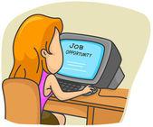 Búsqueda de empleo — Foto de Stock