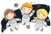 Astronaut Kids — Stock Photo