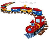 Oyuncak trenin arka plan — Stok fotoğraf