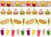 Fastfood Borders — Stock Photo