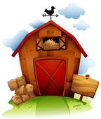 Barn with Haystack — Stock Photo