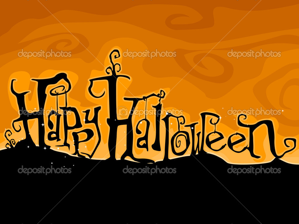 Halloween Greetings Written in Creepy Font — Stock Photo #7600445