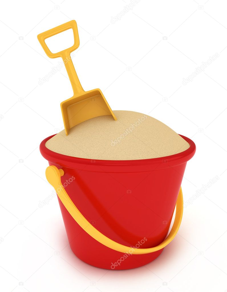 Sand Bucket — Stock Photo © lenmdp 7600579