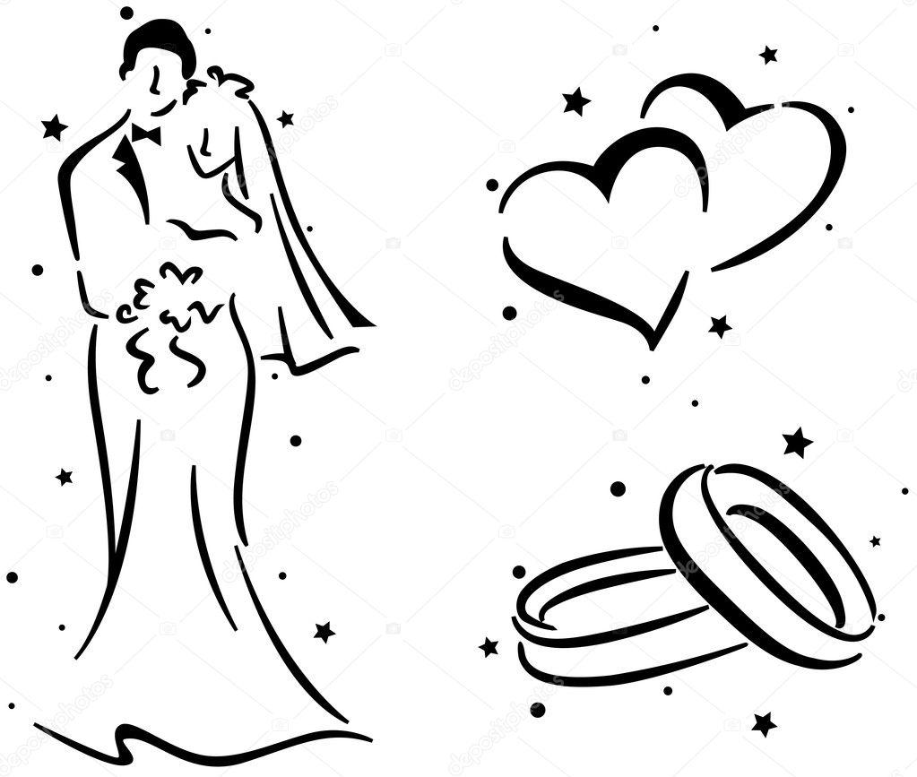 Hochzeits-Schablone | Fotos