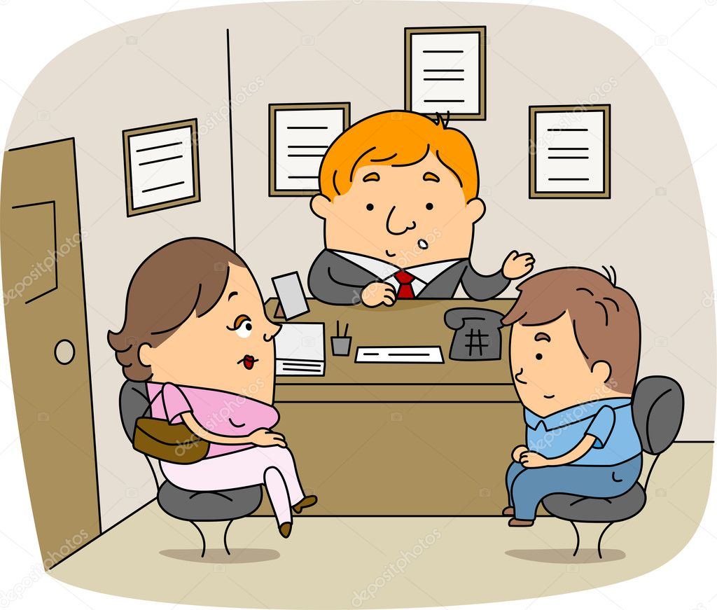 Illustration of a School Counselor at Work — Stock Photo #7601522
