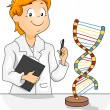 Stock Photo: DNA Model
