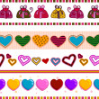 Love and Hearts Border — 图库照片