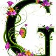 Stock Photo: Floral Alphabet