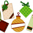 Foto Stock: Christmas Tags
