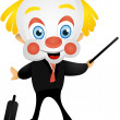 Cartoon Businessman Clown - Stock Photo