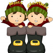 Christmas Elves — Stock Photo