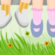 Stock Photo: Childrens Feet