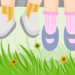 Royalty-Free Stock Photo: Childrens Feet