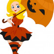 Pinup Girl Pumpkin — Stock Photo