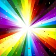 Rainbow Rays — Stock Photo