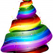 Rainbow Ribbon Tree — Stock Photo